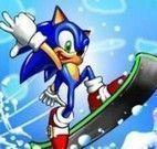 Mario x Sonic snowboard