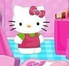 Hello Kitty limpar quartinho