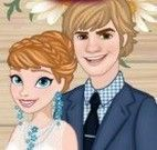 Vestir e maquiar Frozen noivas