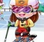 Bebê Hazel roupas de esquiar