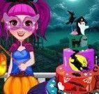 Bolo de Halloween decoração