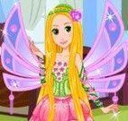 Rapunzel vestir  roupas da Winx