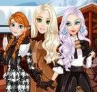 Anna e amigas roupas de inverno