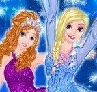 Elsa e Anna roupas de férias