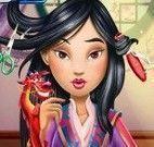 Princesa Mulan salão de beleza