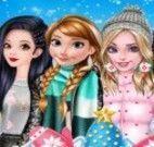 Turma das princesas roupas de inverno