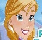 Vestir e maquiar Anna do filme Frozen