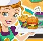 Servir no hambúrguer bistrô