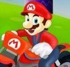 Corrida de moto Mario e Doraemon
