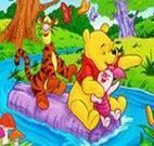 Colorir desenho do ursinho Pooh fazendo conta matemática