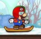 Esquiar com Mario e Luigi