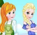 Vestir Elsa, Cinderela e Rapunzel