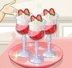 Sara sobremesa de morango