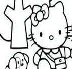Pintar desenho da Hello kitty