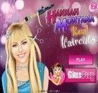 Cortar o cabelo de verdade da Hannah montana