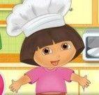 Dora preparar cookies gotas de chocolate