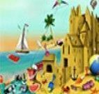 Fazer castelo de areia na praia