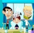 Mr bean cabelereiro