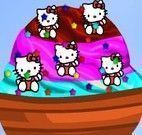 Decorar sorvete da Hello Kitty