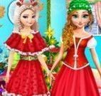 Anna e Elsa roupas natalina