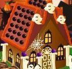 Casa de doces do Halloween decorar