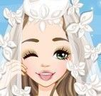 Vestido e maquiagem de noiva