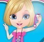 Barbie bebê tirar fotos