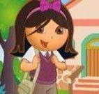 Vestir a Dora para o colégio