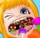 Bebê Barbie cuidar da garganta