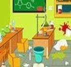 Limpar o laboratório do cientista
