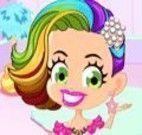 Penteado de arco-íris