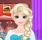 Fazer hambúrguer com Elsa grávida