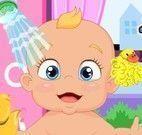 Cuidar do bebê e dar banho