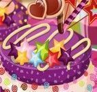 Decoração de bolo infantil colorido