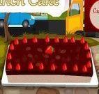 Fazer bolo de morango com chocolate