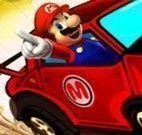 Dirigir na pista de corrida do Mario