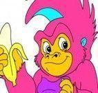 Pintar desenho do macaco