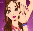 Fazer as unhas e maquiar garota
