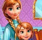 Anna mamãe e filha estudando