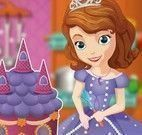 Princesa Sofia fazer bolo