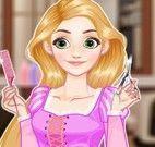 Rapunzel profissão cabeleireira