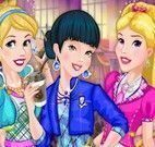 Roupas escolar das princesas da Disney