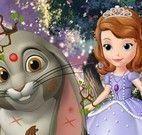 Sofia cuidar do coelho