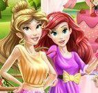 Ariel  e Jasmine decorar bolo