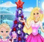 Barbie e bebê decorar árvore de natal