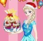 Elsa decorar muffins de natal