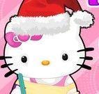 Hello Kitty limpar casa para natal