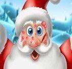Papai Noel cuidar do rosto