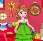 Princesa Sofia arrumar casa para Natal