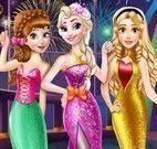 Princesas roupas de réveillon